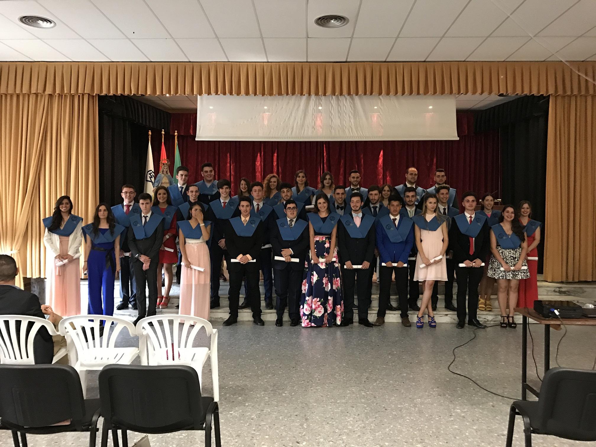 Despedida / graduación de los alumnos de 2º de Bachillerato.