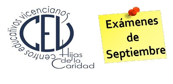 Exámenes de septiembre 2019