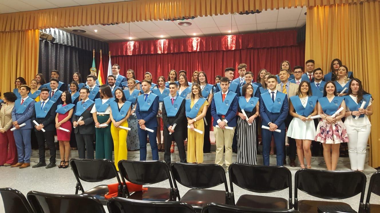 Graduación de los alumnos de 2º de Bachillerato, curso 2017-18